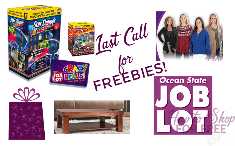Last Call for these Job Lot FREEBIES!!