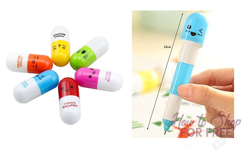 "6pc. Mini ""Pill"" Pens for $1.69 SHIPPED ~Silly Stocking Stuffer!"