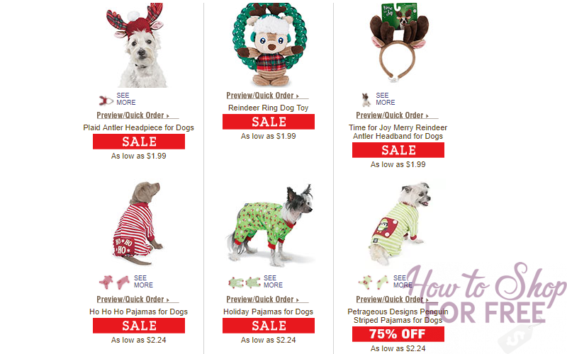 Holiday Pet Toys or Costumes Starting at $1.99 Shipped!