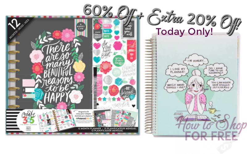 60% off +Extra 20% off 2017-2018 Planners!! Get Organized!