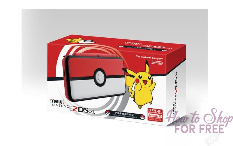 NEW Nintendo 2DS XL: Poke Ball Edition~ Only $128 + Ships Free!
