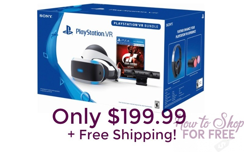 WOW! $100 Off the Playstation VR Gran Turismo Sport Bundle