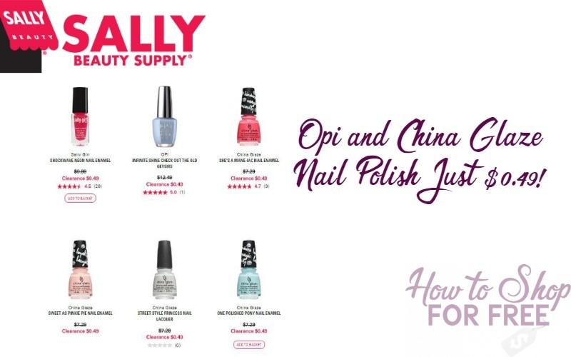 Sally Beauty: O.P.I and China Glaze Nail Polish just $0.49!