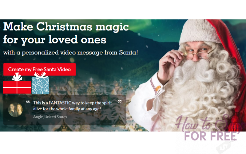 Free santa video how to shop for free with kathy spencer m4hsunfo