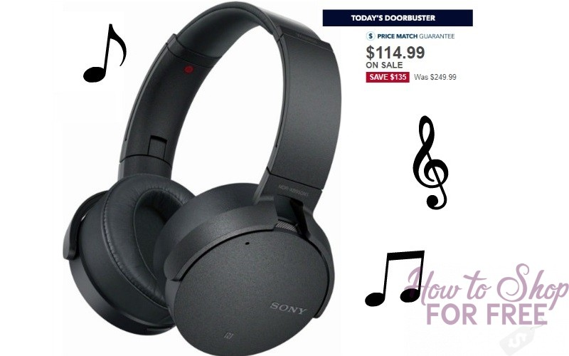 $135 OFF Sony Noise-Canceling Wireless Headphones **Today Only**