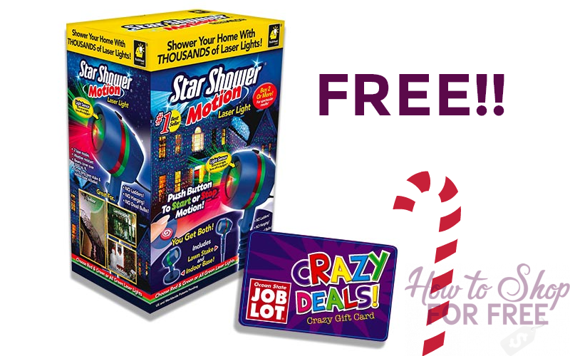 FREE Star Shower Motion Light!! (thru 12/13)