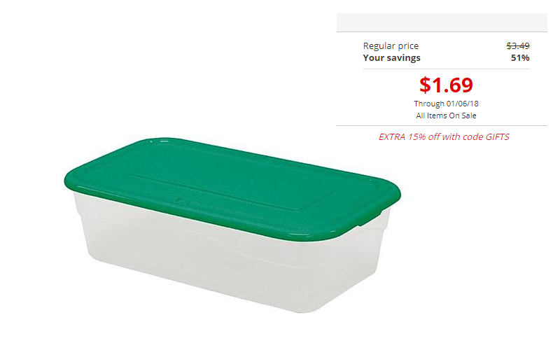 5-Quart Storage Box Only $1.44!