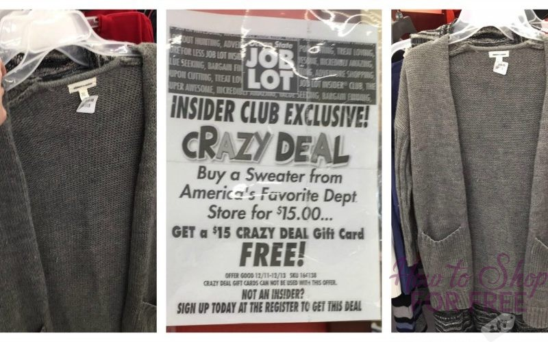 Last Call for FREE Sweaters at Job Lot!!!