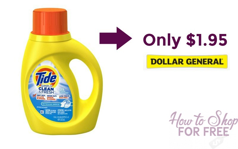 Tide Simply Laundry Detergent Only $1.95 at Dollar General