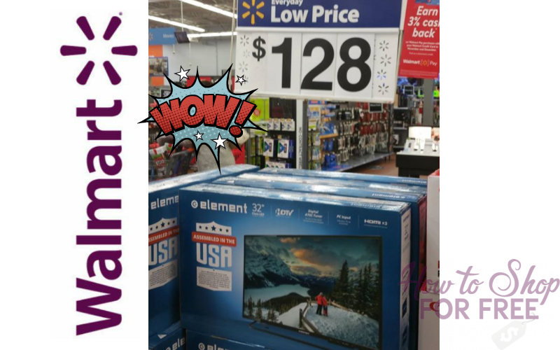 Element 32″ HDTV… ONLY $128!! Lots of Stock!! (Was/$204)