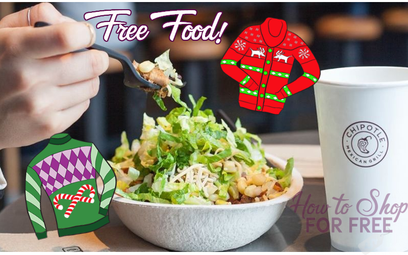 FREE Queso at Chipotle.. Just Wear an Ugly Sweater!!