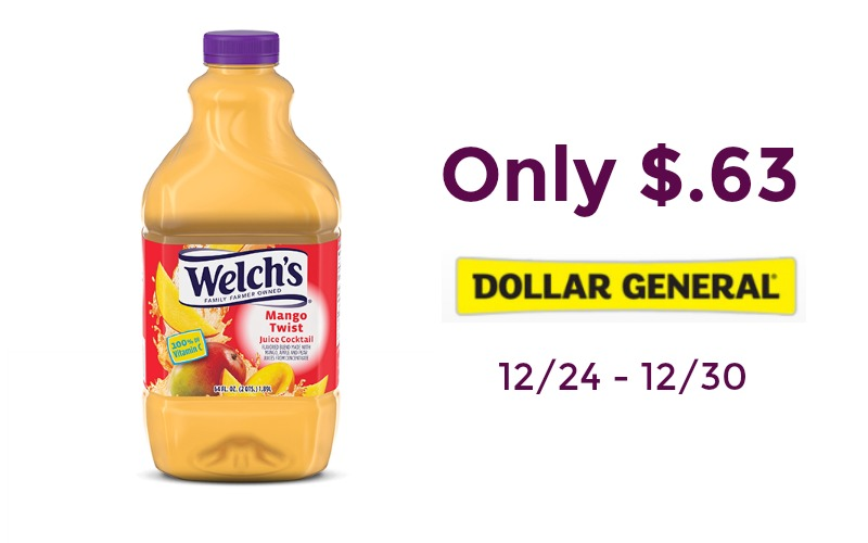 Welch's Juice Cocktail Only $.63