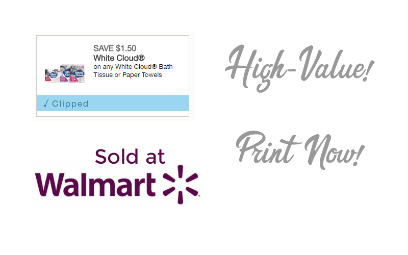 *High-Value* $1.50/1 White Cloud TP or Paper Towels! Print Now!