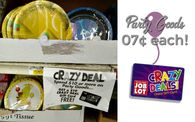 Stock Up on Party Goods.. 07¢ per pack!