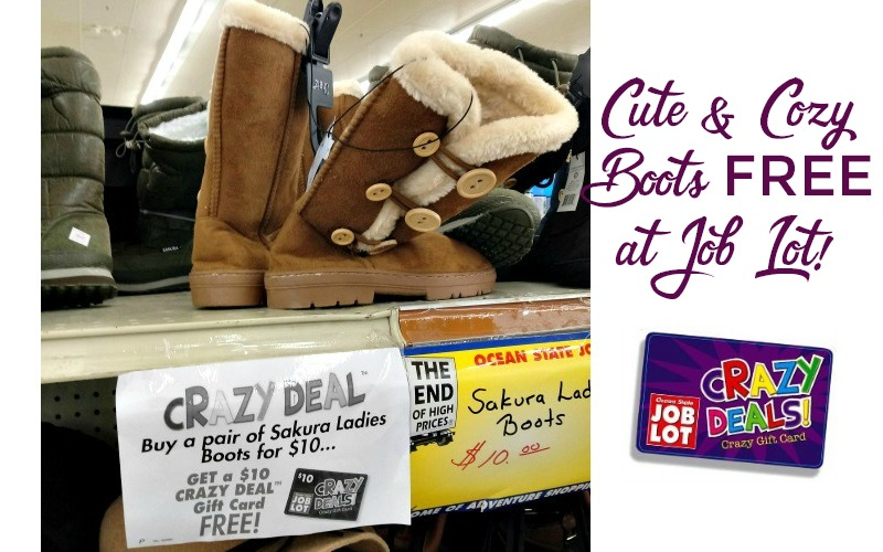 4fa17df57eb FREE Winter Boots at Job Lot!