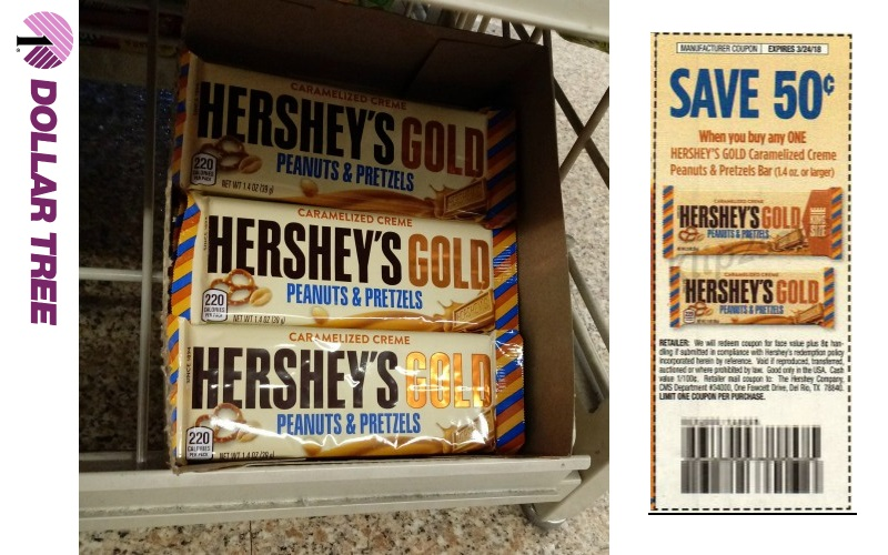 39¢ Hershey Gold Bars at Dollar Tree!!