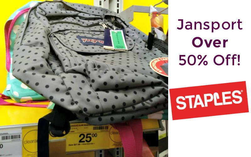 SAVE $28 on Jansport Backpacks at Staples!