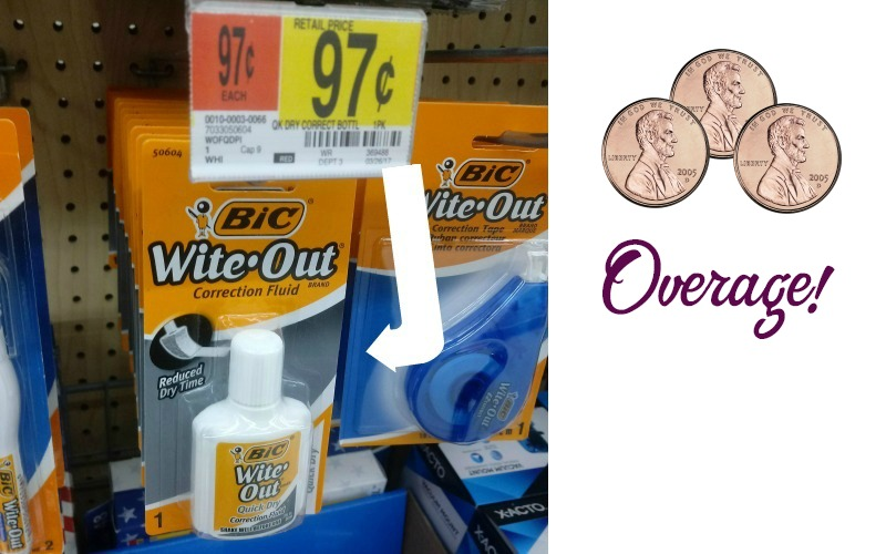 Let Walmart PAY YOU to Buy BiC Wite-Out!!