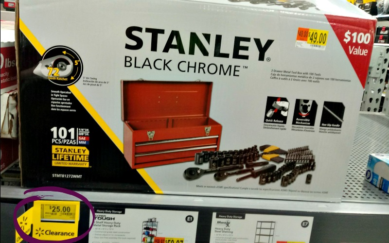 $25 Stanley 101pc. Tool Set w/Box ($100 Value!) Great Gift for Dad!
