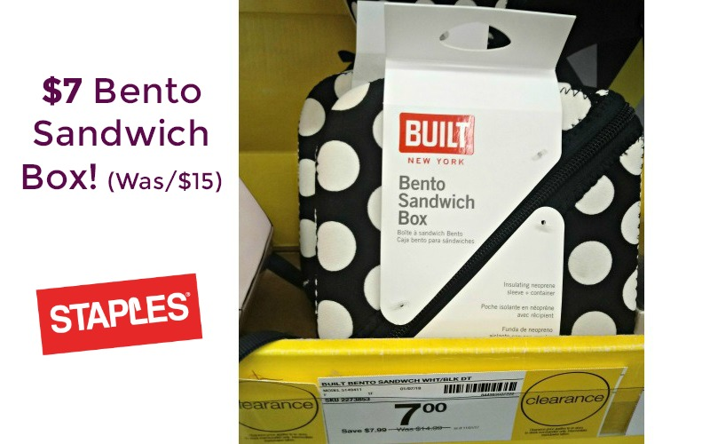 $7 Bento Sandwich Box at Staples!! (OVER 50% OFF!)