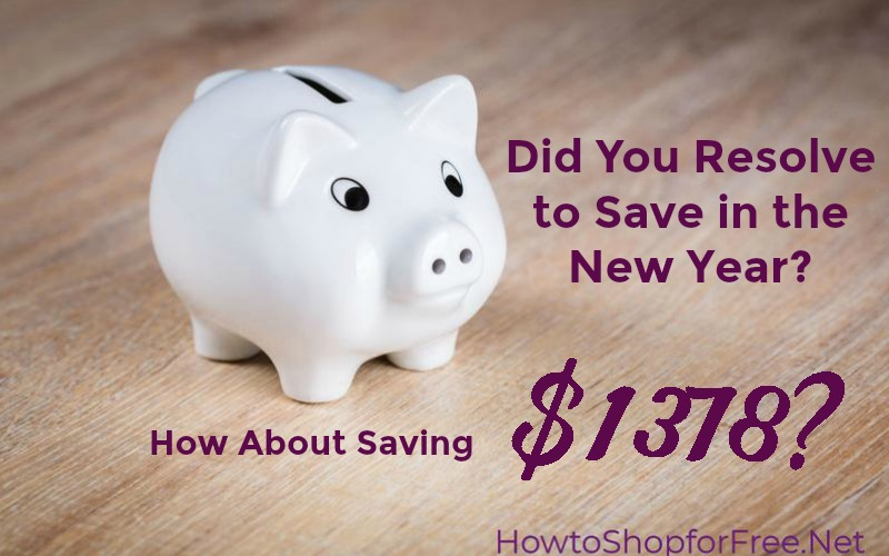 Did You Resolve to Save in the New Year? How About Saving $1378?