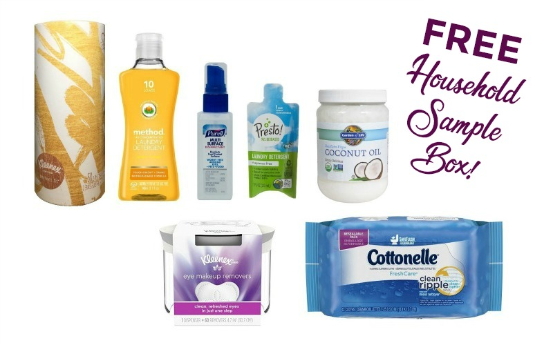 FREE Household Sample Box~ Tissues, Coconut Oil & MORE!