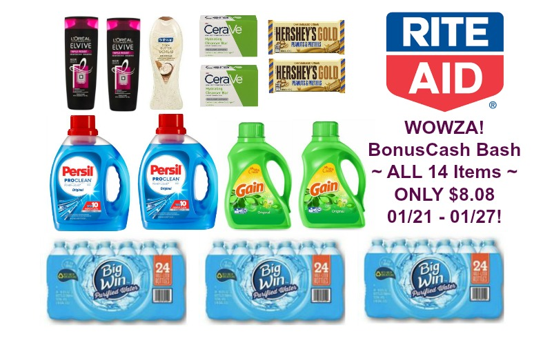 **UPDATE** BonusCash Bash ~ ALL 14 Items ONLY $6.08 at Rite Aid 01/21 – 01/27!
