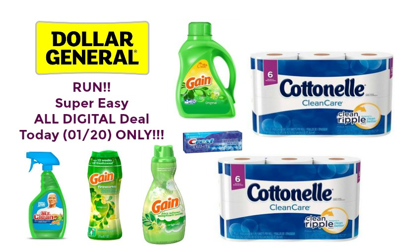 RUN!! Super Easy ALL DIGITAL Deal at Dollar General ~ Today (01/20) ONLY!!!