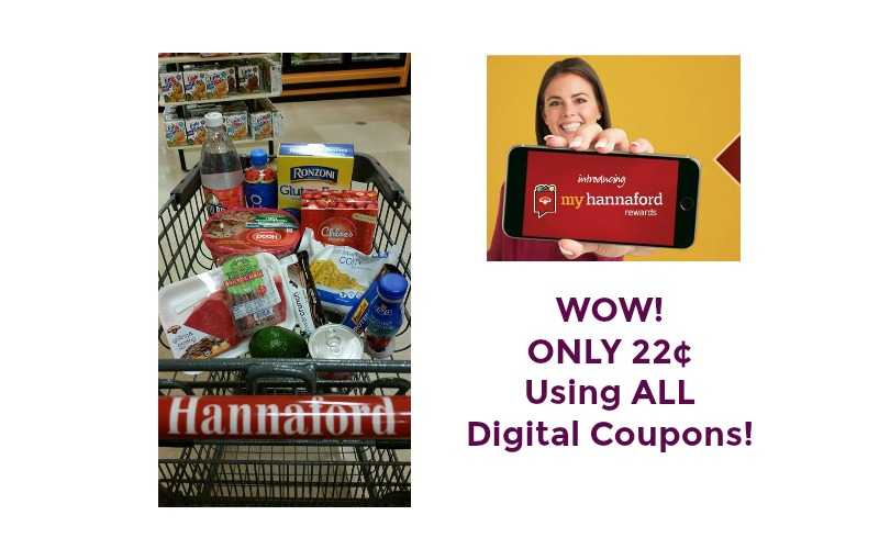 WOW! ONLY 22¢ Using ALL Digital Coupons at Hannaford!
