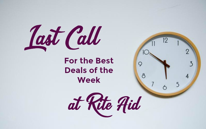 Last Call for the Best Deals of the Week at Rite Aid ~ Good Through 01/27!
