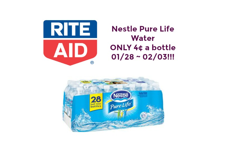 Run & Start Your Printers!! Nestle Pure Life Water ONLY 4¢ a Bottle at Rite Aid 01/28 ~ 02/03