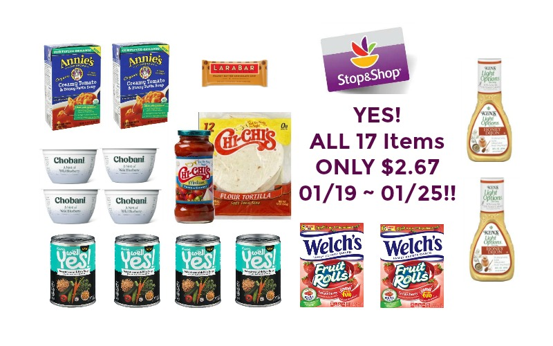 YES! ALL 17 Items ONLY $2.67 at Stop & Shop 01/19 ~ 01/25!!