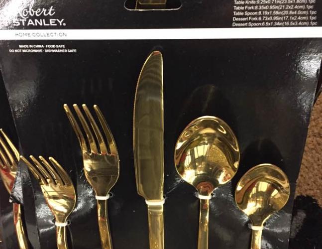 Gold Silverware $1.49