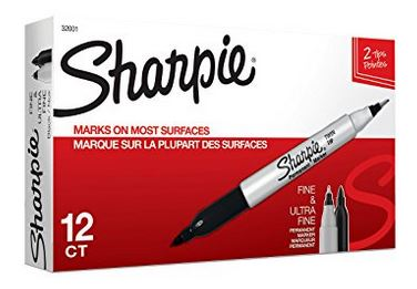 Sharpie Twin Tip Permanent Markers 12 Ct  ~ ONLY $7.69 (Reg $27.99)