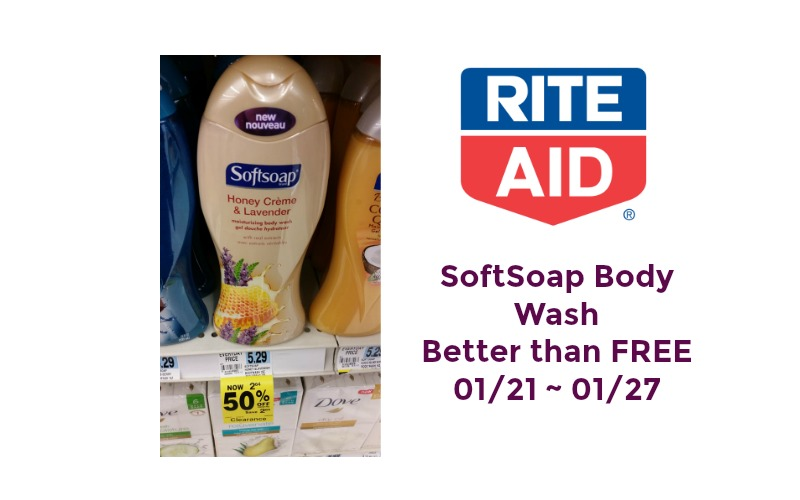 SoftSoap Body Wash Better Than FREE at Rite Aid 01/21 ~ 01/27!!