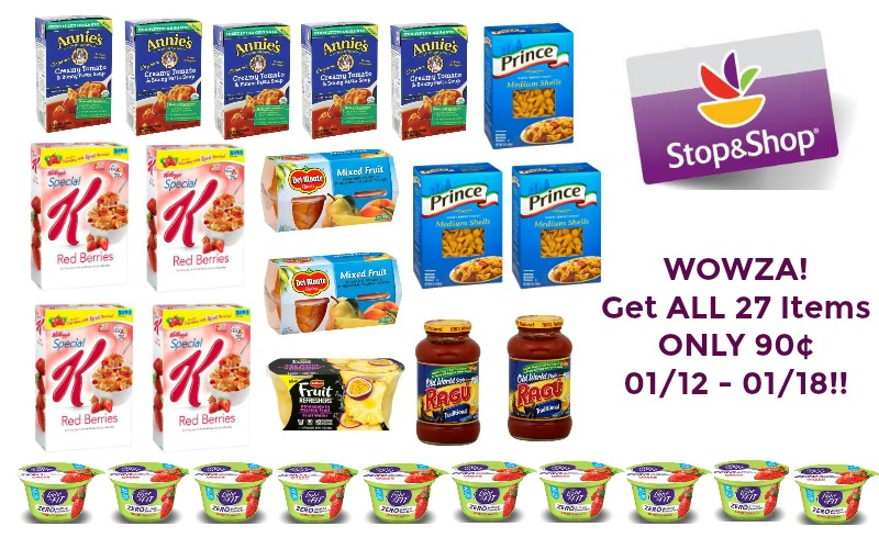 WOWZA! Get ALL 27 Items for ONLY 90¢ at Stop & Shop ~ 01/12 – 01/18!!