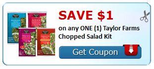 **HOT** $1.00/1 Taylor Farms Chopped Salad Kit PRINTABLE Coupon