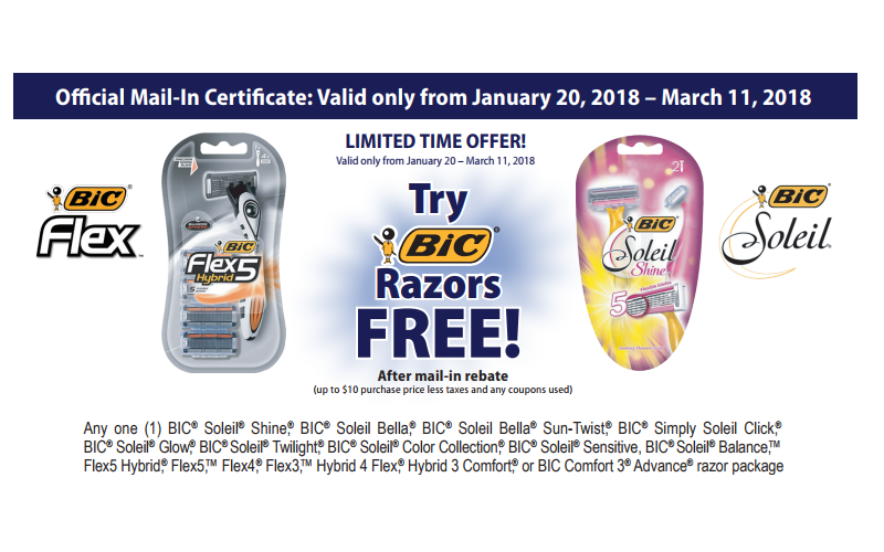 FREE BiC Shavers Freebate!! Grab this HOT $10 Mail-In Rebate!