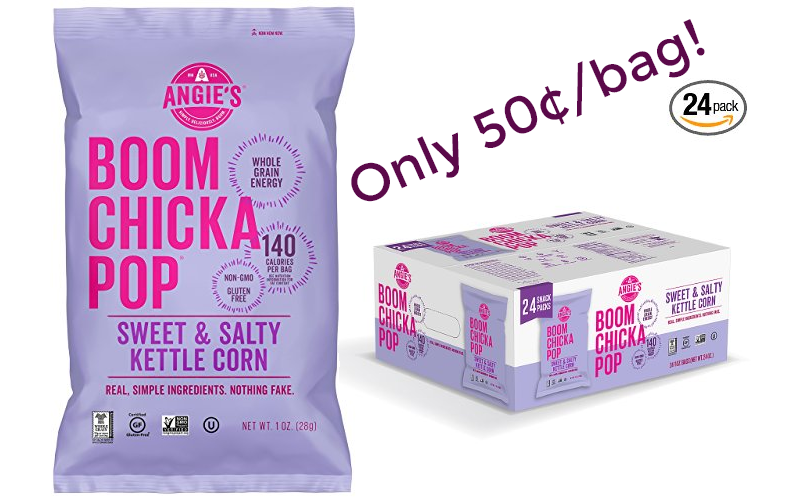 Angie's BOOMCHICKAPOP 50¢/bag for Prime Members!