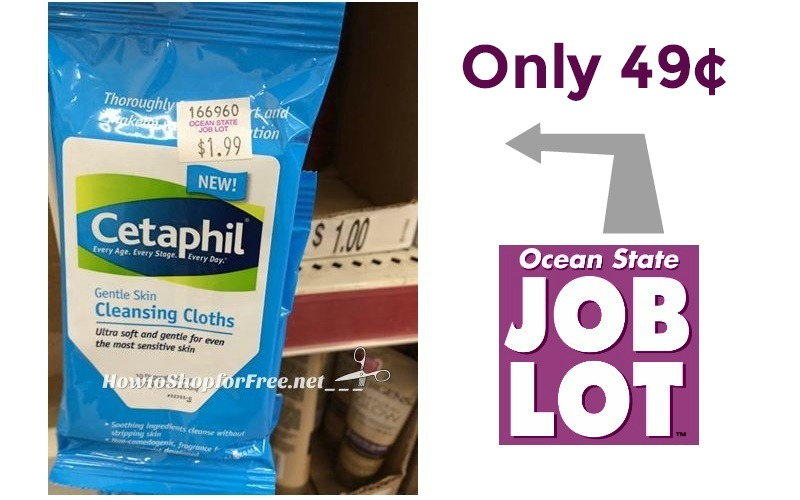 49¢ Cetaphil Cleansing Cloths at OSJL!