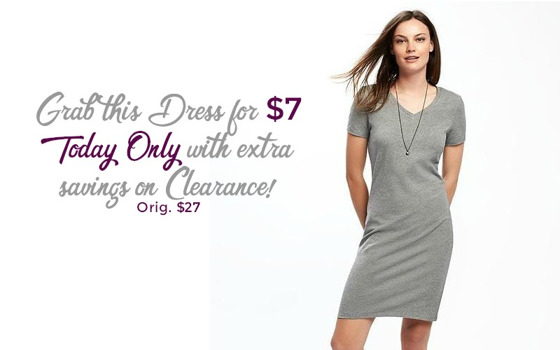 RUN~ $27 Old Navy T-Shirt Dress for ONLY $7!