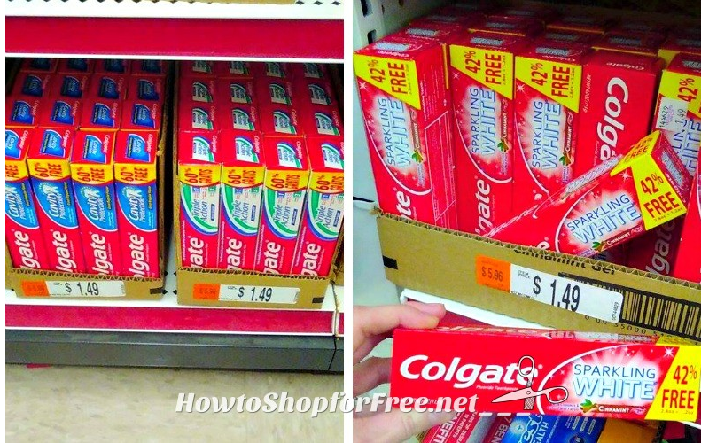 .99 Colgate Toothpaste (BIG Tube!) with NEW Coupons!