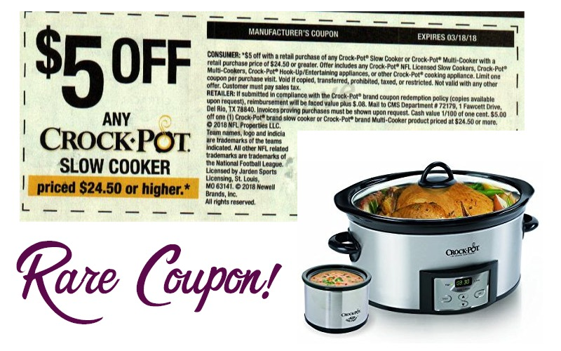 WOW, $5 Crock-Pot Coupon! Save on this Small Appliance!