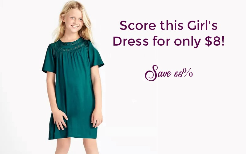 Lace-Trim Girl's Swing Dress ONLY $8!! (Was $25)
