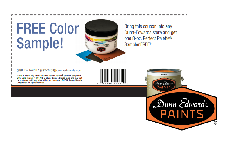 FREE Dunn-Edwards 8oz. Paint Sampler!