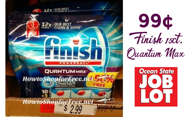 99¢ Finish Quantum Max (15ct) at Job Lot!!!