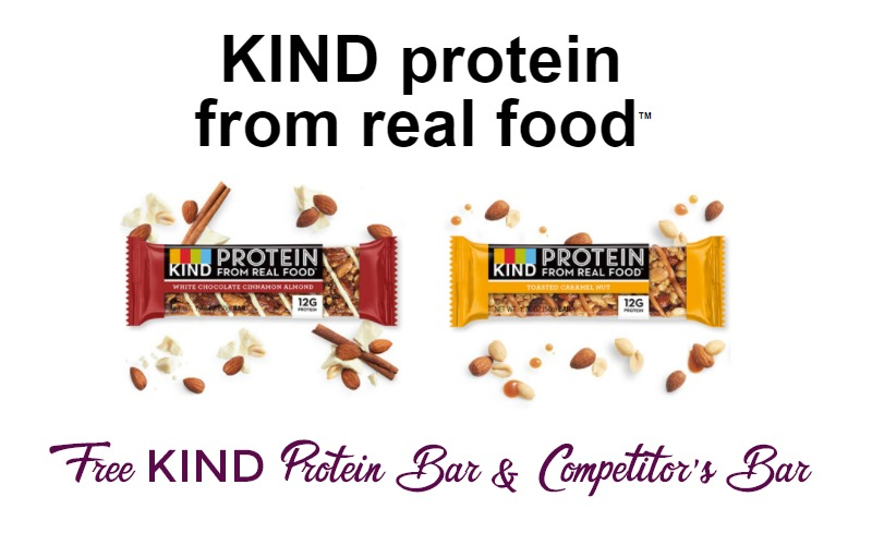 Free KIND Protein Bar & Competitor's Bar!! That's 2 FREE Bars!