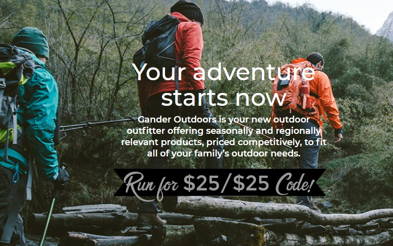 RUN~ $25/$25+ Gander Code = CHEAP Apparel, Camp Gear & MORE!