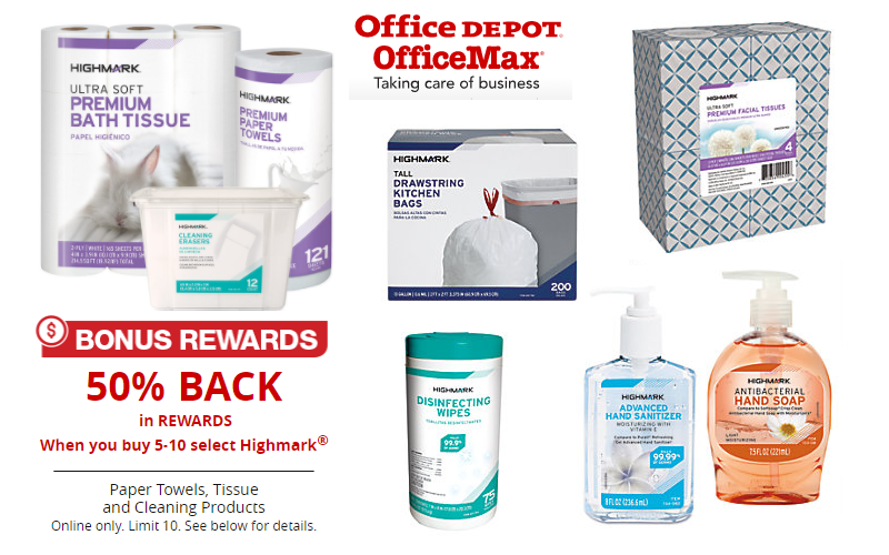 Highmark Cleaning/Paper Products 50% OFF after Rewards!