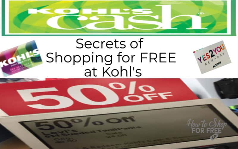 Secrets to Shopping for Free at Kohl's